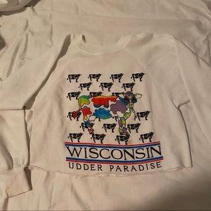 "Vintage Wisconsin ""Udder Paradise"" Crewneck"